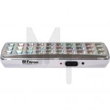 EL115 Светильник аккумуляторный, 30LED DC (3,7V 1,2AH литий-ионная батарея), белый 12668
