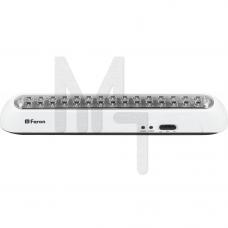 EL20 Светильник аккумуляторный, 30 LED белый AC/DC (мм 373*73*73) 12901