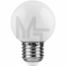 Лампа светодиодная LB-37 5LED(1W) 230V E27 7000K 70*45mm шарик 25115