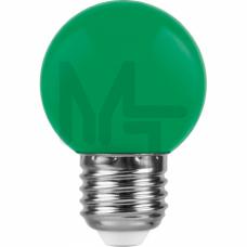 Лампа светодиодная LB-37 5LED(1W) 230V E27 зеленый 70*45mm шарик 25117