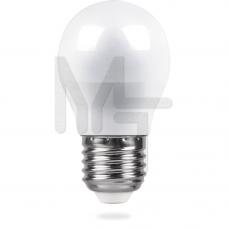Лампа светодиодная LB-38 G45 230V 5W 400Lm E27 2700K 25404