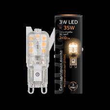 Лампа Gauss LED G9 AC220-240V 3W 240lm 2700K пластик 1/10/200 107409103