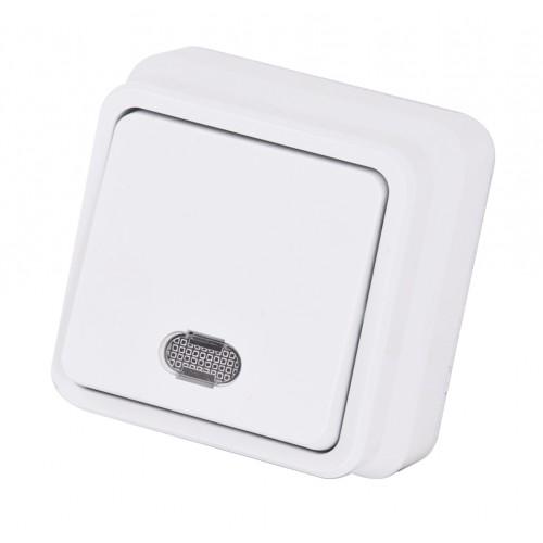 Misya 0511102 Выкл. 1-клав. с подсветкой белый 01 05 11 00 100 102