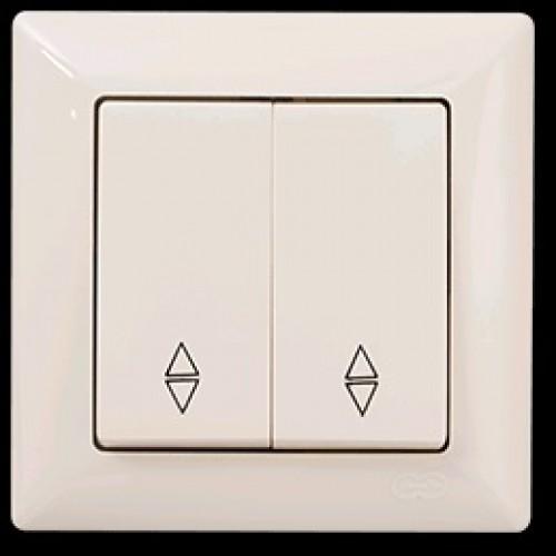 2812109 VISAGE выкл. 2 клав. проходной крем (12шт) 01 28 12 00 100 109