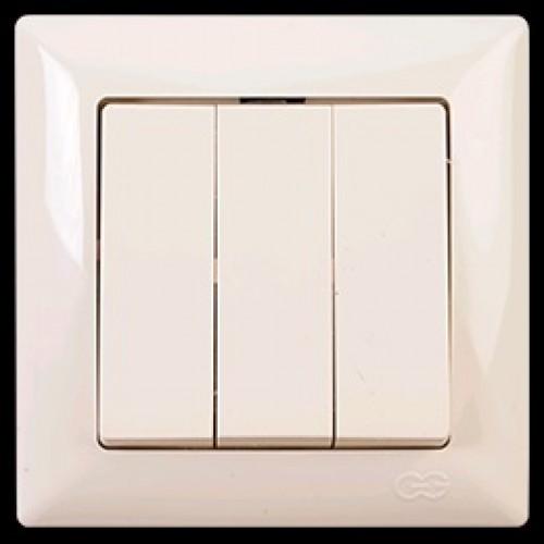 2812160 VISAGE выкл. 3-клав. крем.(12шт) 01 28 12 00 100 160