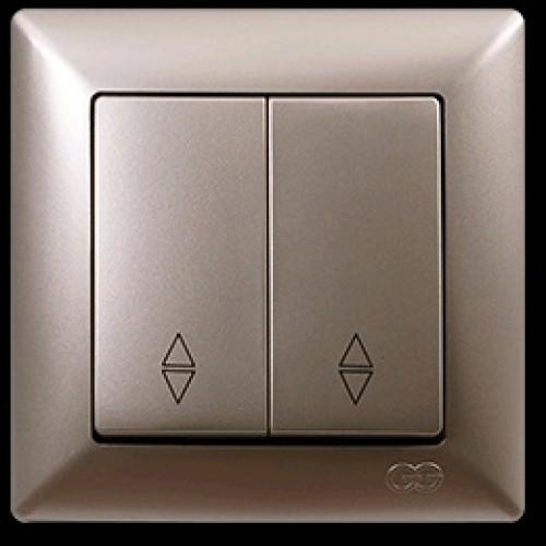 2825109 VISAGE выкл. 2 клав. прох.зол (12шт) 01 28 25 00 100 109