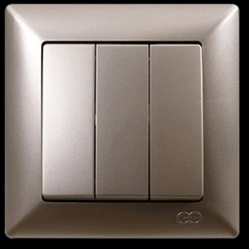 2825160 VISAGE выкл. 3 клав. зол (12шт) 01 28 25 00 100 160