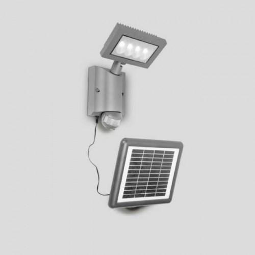 Solar Светильник прожекторного типа прямоуг Cree 4*1W (Grey) W6101S-PIR SL