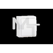 Выключатель одноклавишный с подсветкой, IP54, 10А 250В, винтовой зажим, S15 Aqua, белый 1594104-030