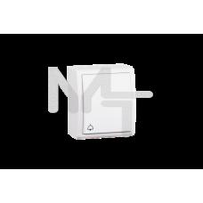 Выключатель одноклавишный кнопочный с символом «звонок», IP54, 10А 250В, винтовой зажим, S15 Aqua, б 1594150-030