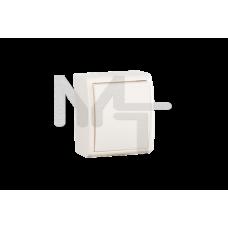Выключатель одноклавишный с подсветкой, IP54, 10А 250В, винтовой зажим, S15 Aqua, слоновая кость 1594104-031