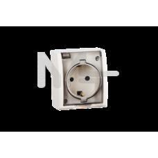 Розетка с заземлением Schuko со шторками, с крышкой полупрозрачной, IP54, 16А 250В, винтовой зажим, 1594432-031