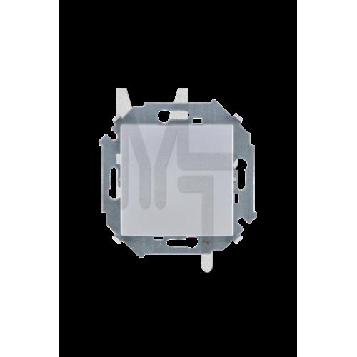 Выключатель одноклавишный проходной, 16А 250В, винтовой зажим, алюминий 1591201-033