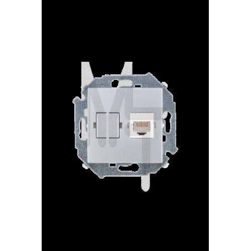 Розетка компьютерная RJ45 кат.5е, Systimax, алюминий 1591598-033