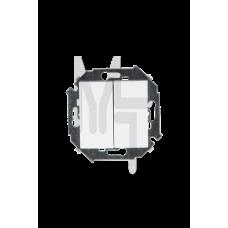 Выключатель двухклавишный, 16А 250В, винтовой зажим, белый 1591398-030