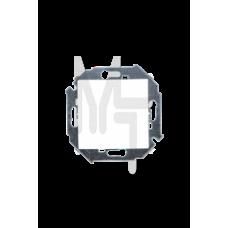 Выключатель одноклавишный проходной, 16А 250В, винтовой зажим, белый 1591201-030