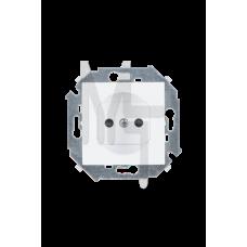 Розетка без заземления, 16А 250В, винтовой зажим, белый 1591431-030