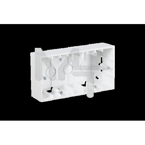Монтажная коробка для накладного монтажа, 2 поста, белый 1590752-030