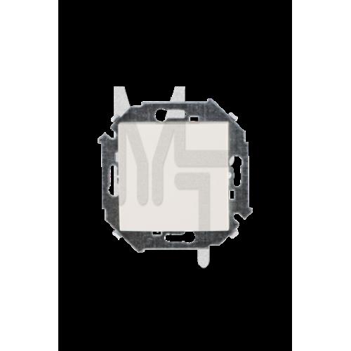 Выключатель одноклавишный проходной, 16А 250В, винтовой зажим, слоновая кость 1591201-031