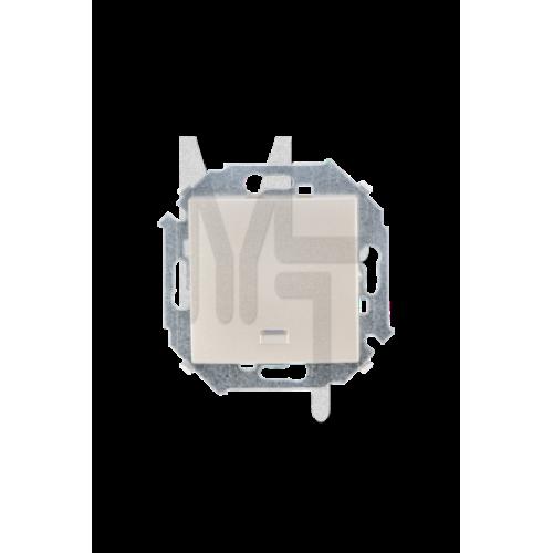 Выключатель одноклавишный с подсветкой, 16А 250В, винтовой зажим, шампань 1591104-034