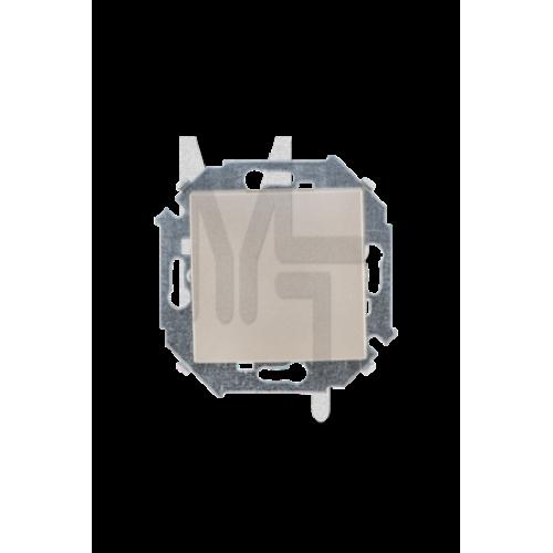 Выключатель одноклавишный проходной, 16А 250В, винтовой зажим, шампань 1591201-034