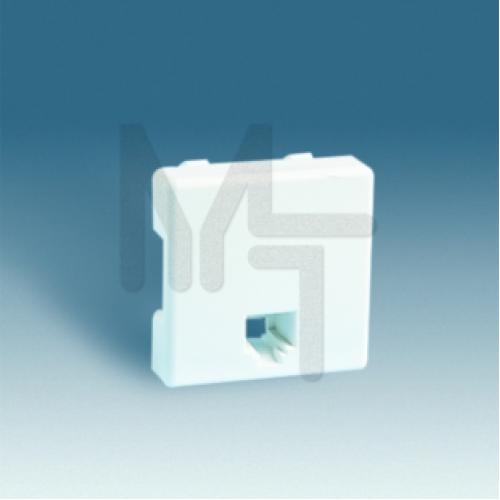Розетка телефонная RJ-11, 4 контакта, широкий модуль, S27, белый 27480-35