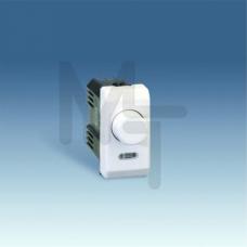 Светорегулятор проходной поворотно-нажимной, 40-500Вт, (лампы накаливания+галоген), узкий модуль, S2 27313-31