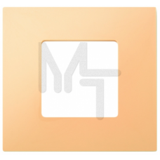 Декоративная накладка на рамку-базу, 1 пост, S27Pl, кремовый 2700617-070