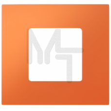 Декоративная накладка на рамку-базу, 1 пост, S27Pl, оранжевый (10130040/250914/0006826/2, ИСПАНИЯ) 2700617-072