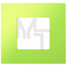 Декоративная накладка на рамку-базу, 1 пост, S27Pl, фисташковый (10130210/251214/0029100/4, ИСПАНИЯ) 2700617-065