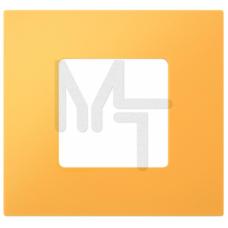 Декоративная накладка на рамку-базу, 2 поста, S27Pl, жёлтый (10130080/260313/0003452/4, ИСПАНИЯ) 2700627-062