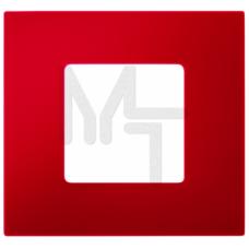Декоративная накладка на рамку-базу, 2 поста, S27Pl, красный (10130080/170913/0013317/2, ИСПАНИЯ) 2700627-037