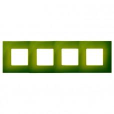 Декоративная накладка на рамку-базу, 4 поста, S27Pl, фисташковый 2700647-065