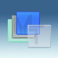 Клавиша декоративная сменная для выключателя (широкий модуль), S27 Play, прозрачный 2720010-108