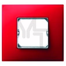 Рамка декоративная, 1 пост, (+суппорт), S27 Neos, Матовый, рубиновый 27771-66