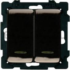 Выключатель двухклавишный, 10А, 250В, графит 34398-038