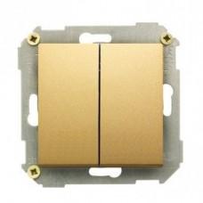 Выключатель двухклавишный, 10А,250В, бронза 34398-036