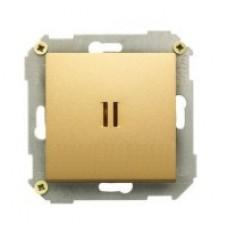 Выключатель одноклавишный сподсветкой, 10А, 250В, бронза 34104-036