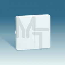 Клавиша (2шт) для выключателя двухклавишного, S73 Loft, алюминий 73026-63