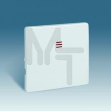 Клавиша для кнопочного выключателя с подсветкой, S82, S82N, алюминий 82011-33