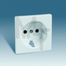 Накладка на розетку двухполюсную с заземляющим контактом, с защитными шторками, S82, S82N, S82 Detai 82041-30
