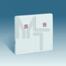 Клавиши (2 шт) для двухклавишного выключателя с подсветкой, S82, S82N, S82 Detail, графит 82025-38