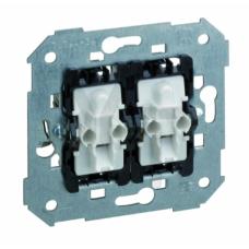 Выключатель кнопочный двухклавишный с подсветкой, 10А 250В, S82, S82N, S82 Detail 75393-39