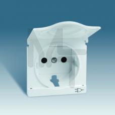 Накладка с крышкой с защитными шторками для двухполюсной розетки с заземляющим контактом, S82, S82N, 82090-38