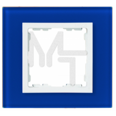 Рамка декоративная, 1 пост, S82 Nature, Стекло, синий-белый 82617-64