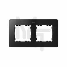Рамка декоративная, 2 поста, Original, S82 Detail, графит-алюминий 8200620-238