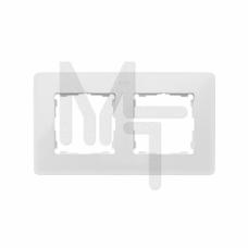 Рамка декоративная, 2 поста, Original, S82 Detail, белый-чёрный 8200620-200