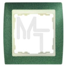Рамка на 2 поста, S82, зеленая текстура - сл.кость 82724-65