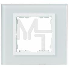 Рамка декоративная, 3 поста, S82 Nature, Стекло, белый-белый 82637-30