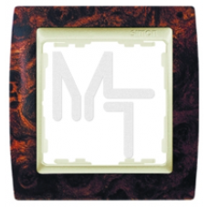 Рамка на 3 поста, S82, корень ореха - шампань (10106050/311008/0006098/1, Испания) 82935-68